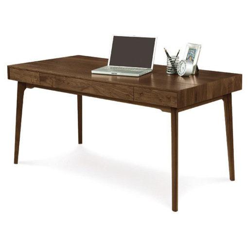 Solid wood Catalina desk in American black walnut by Copeland Furniture at Creative Classics Furniture in Alexandria VA near Arlington VA and Washington DC