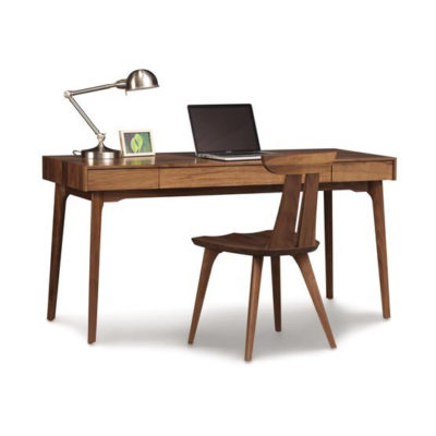 Solid wood Catalina desk with chair in American black walnut by Copeland Furniture at Creative Classics Furniture in Alexandria VA near Arlington VA and Washington DC