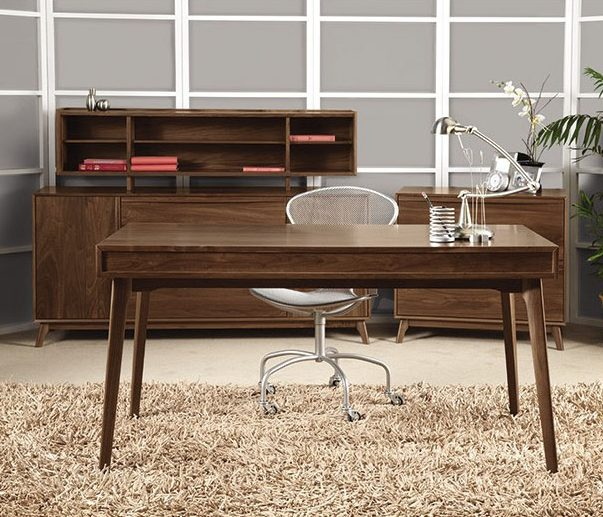 Office scene of Solid wood Catalina office furniture in American black walnut by Copeland Furniture at Creative Classics Furniture in Alexandria VA near Northern VA and Washington DC