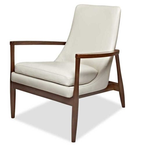 Front view of Aaron Chair in white leather by American Leather at Creative Classics Furniture in Alexandria VA near Washington DC and Arlington VA