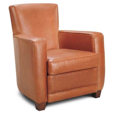 Ethan Club Chair in Leather by American Leather at Creative Classics Furniture in Alexandria VA