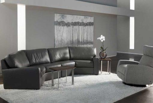 Kaden Sectional in dark gray leather by American Leather at Creative Classics Furniture in Alexandria VA near Washington DC and Arlington VA
