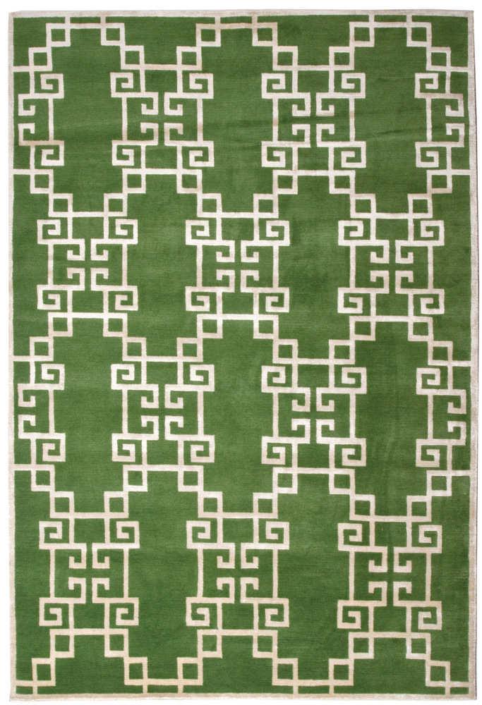 Asian Lattice Area Rug In English Ivy Creative Classics
