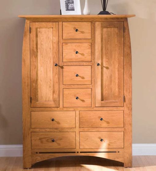 Bedroom scene of solid wood Aspen Door Chest by Simply Amish at Creative Classics Furniture in Alexandria VA near Washington DC and Arlington VA