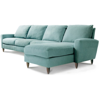 Bennet Sectional in aqua fabric by American Leather at Creative Classics Furniture in Alexandria VA near Arlington VA and Washington DC