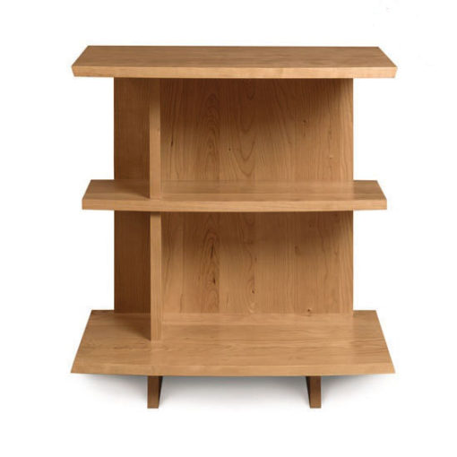 front view of solid wood Bookcase Nightstand in natural cherry by Copeland Furniture at Creative Classics Furniture in Alexandria VA near Washington DC and Arlington VA