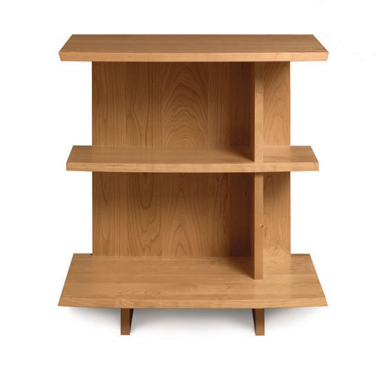 front view of Bookcase Nightstand in solid natural cherry by Copeland Furniture at Creative Classics Furniture in Alexandria VA near Washington DC and Arlington VA