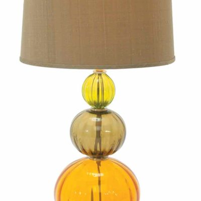 Cairn Citrus Table Lamp in yellow and orange glass by Tracy Glover Lamps at Creative Classics Furniture in Alexandria VA near Arlington VA and Washington DC
