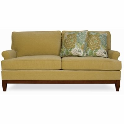 Front view of Camden Loveseat in gold fabric by CR Laine Furniture at Creative Classics Furniture in Alexandria VA near Washington DC and Arlington VA