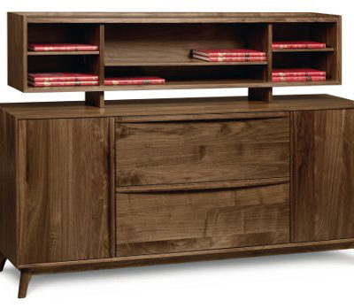 Solid wood Catalina file credenza with organizer in American black walnut by Copeland Furniture at Creative Classics Furniture in Alexandria VA near Northern VA and Washington DC