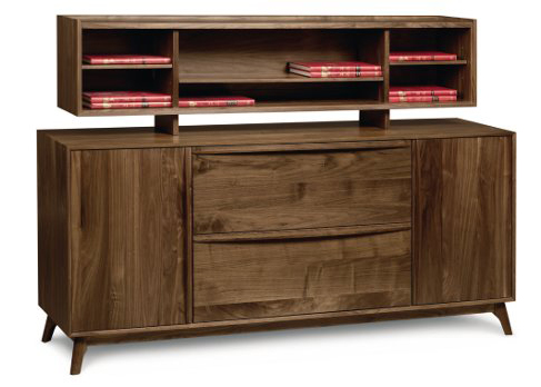 Solid wood Catalina file credenza with organizer in American black walnut by Copeland Furniture at Creative Classics Furniture in Alexandria VA near Northern VA and Washington DC