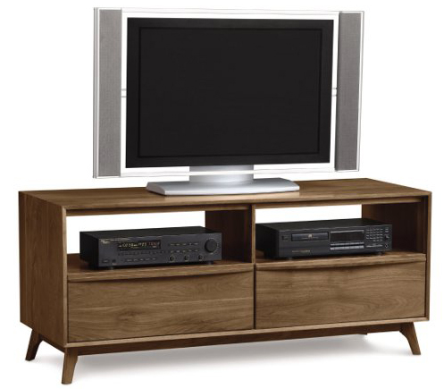 Solid wood Catalina TV stand in American black walnut by Copeland Furniture at Creative Classics Furniture in Alexandria VA near Northern VA and Washington DC