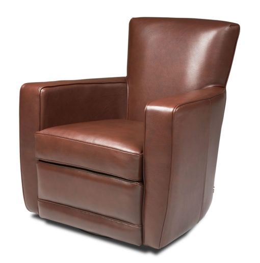 Ethan Swivel Chair in Brown Leather by American Leather at Creative Classics Furniture in Alexandria VA near Arlington VA and Washington DC