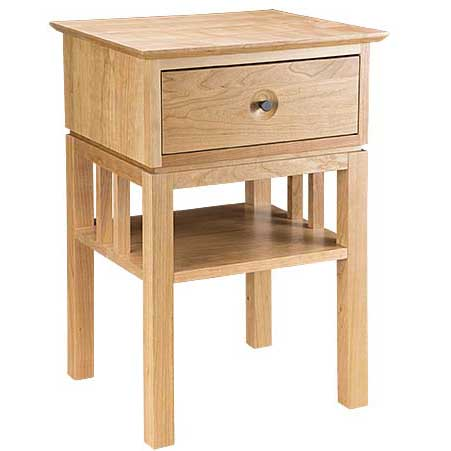 Solid wood Eastwood Small Nightstand in light finish by Gat Creek Furniture at Creative Classics Furniture in Alexandria VA near Arlington VA and Washington DC