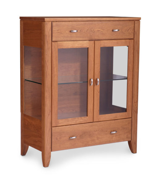 Justine 40 inch Dining Cabinet with glass doors by Simply Amish Furniture at Creative Classics Furniture in Alexandria VA near Washington DC and Arlington VA