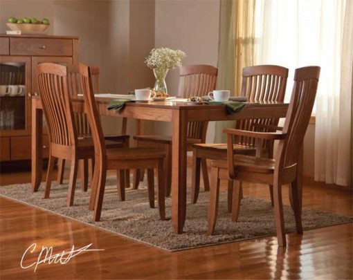 Dining room scene of Solid Wood Justine Dining Set by Simply Amish Furniture at Creative Classics Furniture in Alexandria VA near Washington DC and Arlington VA