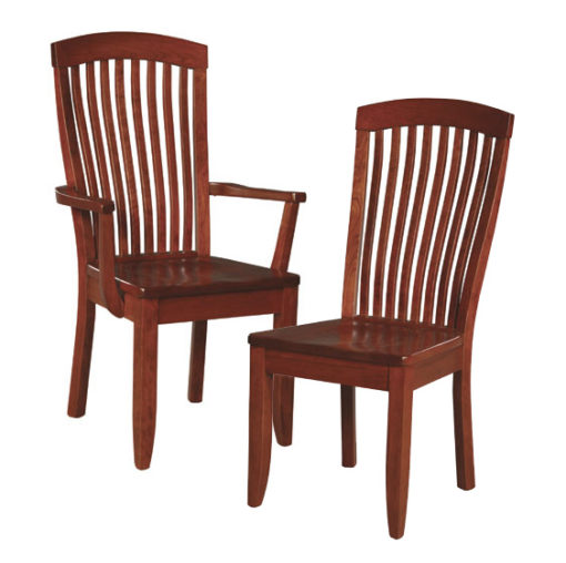 Solid Wood Justine Dining Room Chair by Simply Amish Furniture at Creative Classics Furniture in Alexandria VA