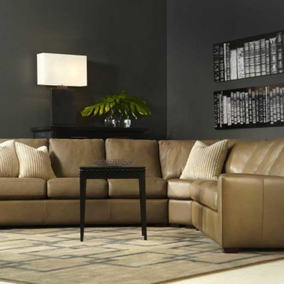 Living room scene with Kaden Sectional in leather by American Leather at Creative Classics Furniture in Alexandria VA near Washington DC and Arlington VA