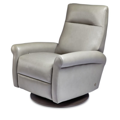 Ada Swivel Comfort Recliner in light gray leather by American Leather at Creative Classics Furniture in Alexandria VA near Washington DC and Arlington VA