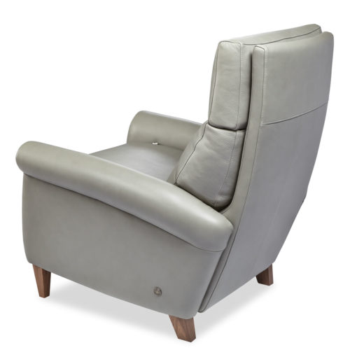 Back view of American Leather Adley Comfort Recliner in light gray leather at Creative Classics Furniture in Alexandria VA near Washington DC and Arlington VA