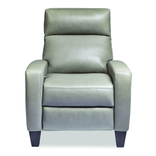Front view of Dexter Comfort Recliner in light green leather by American Leather at Creative Classics Furniture in Alexandria VA near Arlington VA and Washington DC