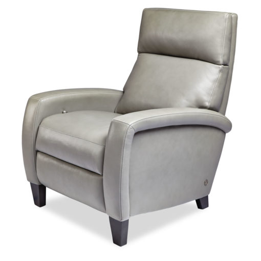 Dexter Comfort Recliner in light gray leather by American Leather at Creative Classics Furniture in Alexandria VA near Arlington VA and Washington DC