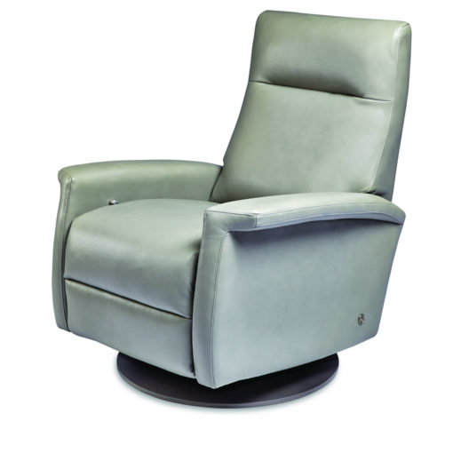 Fallon Swivel Comfort Recliner by American Leather in light green leather at Creative Classics Furniture in Alexandria VA near Washington DC and Arlington VA