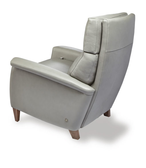 Back view of Felix Comfort Recliner in light gray leather by American Leather at Creative Classics Furniture in Alexandria VA near Arlington VA and Washington DC