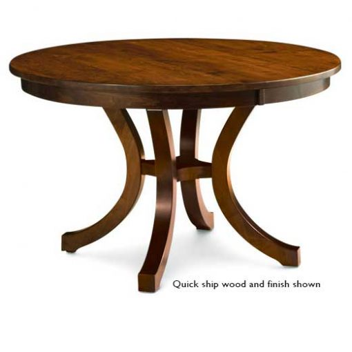 Loft II Round Dining Room Table by Simply Amish at Creative Classics Furniture in Alexandria VA near Arlington VA and Washington DC