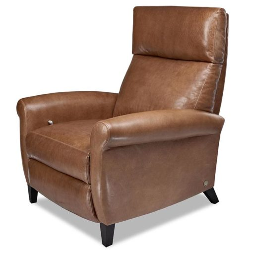 American Leather Adley Comfort Recliner in brown leather at Creative Classics Furniture in Alexandria VA near Washington DC and Arlington VA
