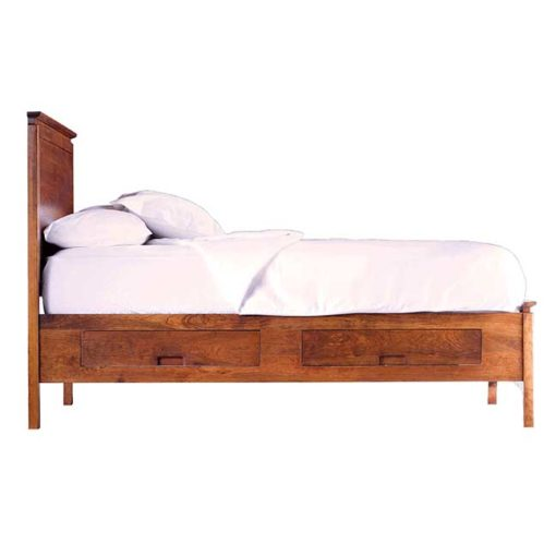 Side view of Solid wood Alison Storage Bed in cherry finish by Gat Creek Furniture at Creative Classics Furniture in Alexandria VA near Washington DC and Arlington VA