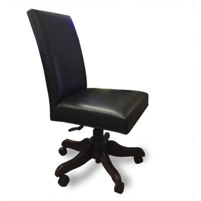 Parson Office Chair in black leather by Canal Dover Furniture at Creative Classics Furniture in Alexandria VA near Arlington VA and Washington DC