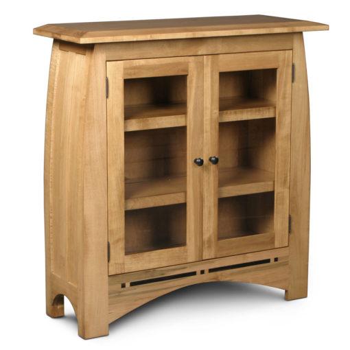 Solid Wood Aspen short bookcase with glass doors by Simply Amish at Creative Classics Furniture in Alexandria VA near Washington DC and Arlington VA