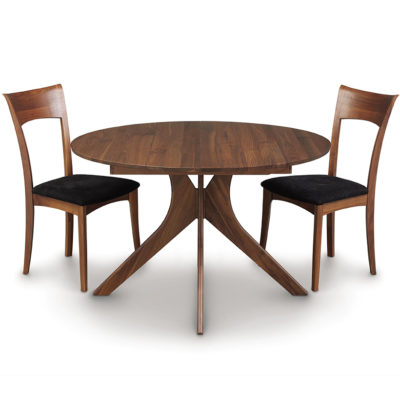 Solid wood Audrey Round Dining Table in natural walnut by Copeland Furniture at Creative Classics Furniture in Alexandria VA near Arlington VA and Washington DC