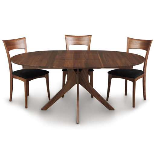 Audrey Round Dining Table with Leaf by Copeland Furniture at Creative Classics Furniture in Alexandria VA near Arlington VA and Washington DC