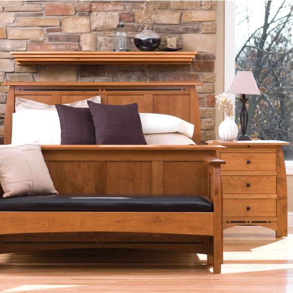 Solid Wood Aspen Bedroom set in medium cherry finish by Simply Amish Furniture at Creative Classics Furniture in Alexandria VA near Washington DC and Arlington VA