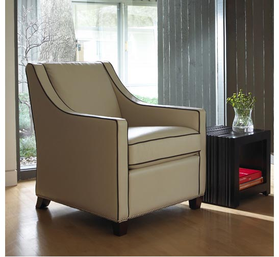 Living room scene with Bella Chair by American Leather at Creative Classics Furniture in Alexandria VA