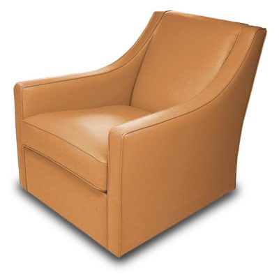 Bella Swivel Chair in gold leather by American Leather at Creative Classics Furniture in Alexandria VA near Washington DC and Arlington VA