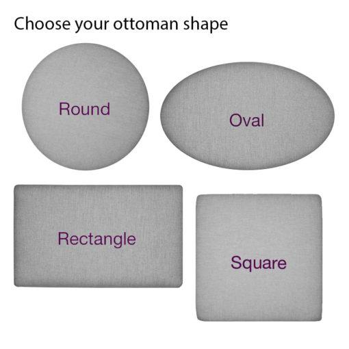 Build Your Own Ottoman Shape Options at Creative Classics Furniture in Alexandria VA near Arlington VA and Washington DC