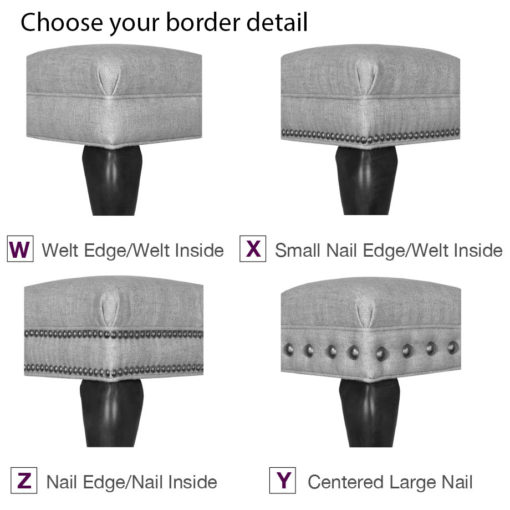 Build Your Own Ottoman Border Detail Styles at Creative Classics Furniture in Alexandria VA near Arlington VA and Washington DC