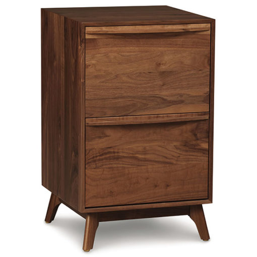 Solid wood Catalina narrow file cabinet in American black walnut by Copeland Furniture at Creative Classics Furniture in Alexandria VA near Northern VA and Washington DC