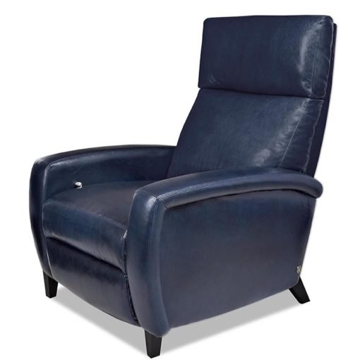 Dexter Comfort Recliner in dark blue leather by American Leather at Creative Classics Furniture in Alexandria VA near Washington DC and Arlington VA