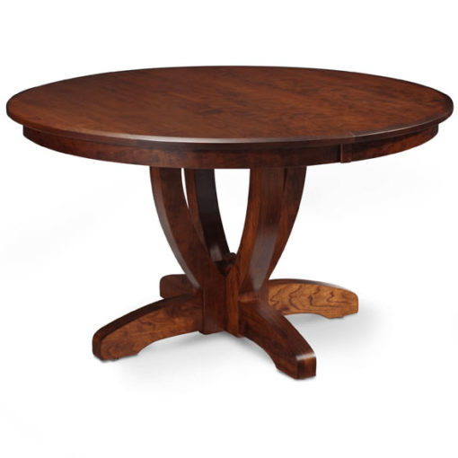 Brookfield Solid Wood Round Dining Table Dark Finish by Simply Amish Furniture at Creative Classics Furniture in Alexandria VA near Arlington VA and Washington DC