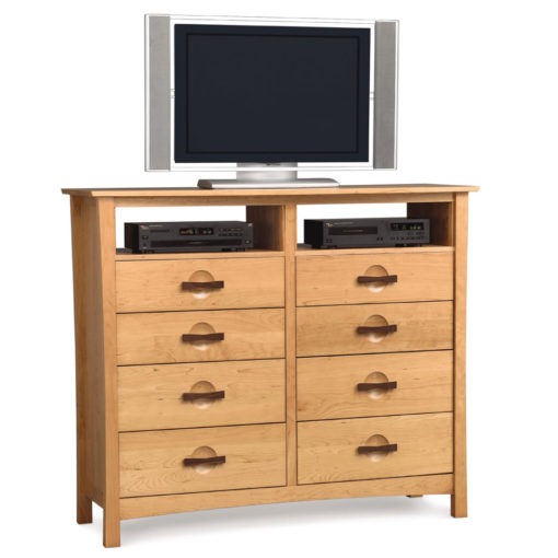 Solid Cherry Wood Berkeley Ten Drawer Dresser with TV Stand option by Copeland Furniture at Creative Classics Furniture in Alexandria VA near Washington DC and Arlington VA
