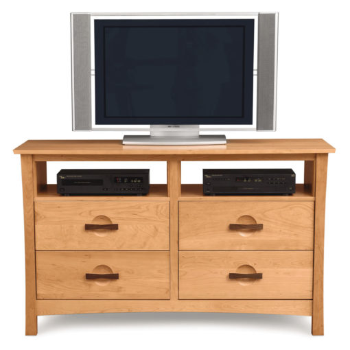 Front view of Solid Cherry Wood Berkeley Six Drawer Dresser with TV Stand option by Copeland Furniture at Creative Classics Furniture in Alexandria VA near Washington DC and Arlington VA