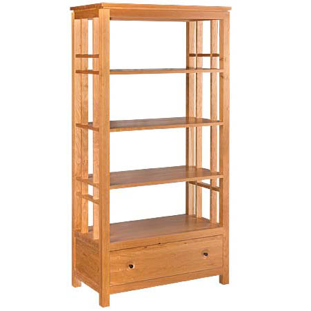 Solid wood Eastwood Etagere Bookcase in light finish by Gat Creek Furniture at Creative Classics Furniture in Alexandria VA near Washington DC and Arlington VA