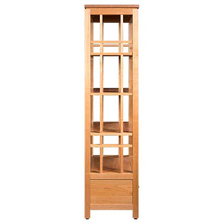Side view of Solid wood Eastwood Etagere Bookcase in light finish by Gat Creek Furniture at Creative Classics Furniture in Alexandria VA near Washington DC and Arlington VA