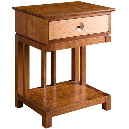 Solid wood Eastwood Storage nightstand in cherry finish by Gat Creek Furniture at Creative Classics Furniture in Alexandria VA near Arlington VA and Washington DC
