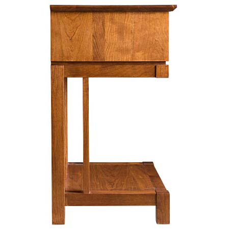 Side view of Solid wood Eastwood Storage nightstand in cherry finish by Gat Creek Furniture at Creative Classics Furniture in Alexandria VA near Arlington VA and Washington DC