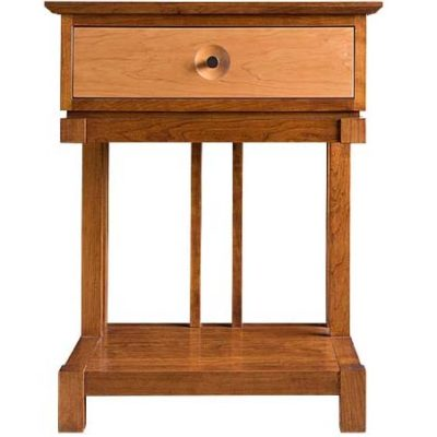 Front view of Solid wood Eastwood Storage nightstand in cherry finish by Gat Creek Furniture at Creative Classics Furniture in Alexandria VA near Arlington VA and Washington DC